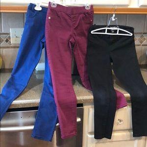 Bundle of 3 skinny pants. Girls size 8